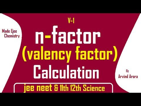 n-factor Calculation (Part 1) - IIT JEE Main and Advanced Chemistry Video Lecture