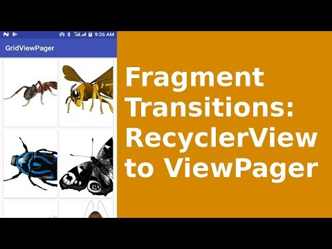 ANDROID FRAGMENT TRANSITIONS - RECYCLERVIEW TO VIEWPAGER