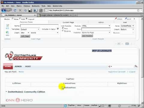 DotNetNuke Tutorial - How to setup Google AdSense - Video #160