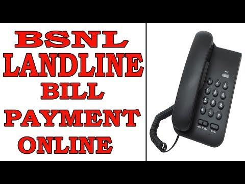 Bsnl Landline Bill Payment Online