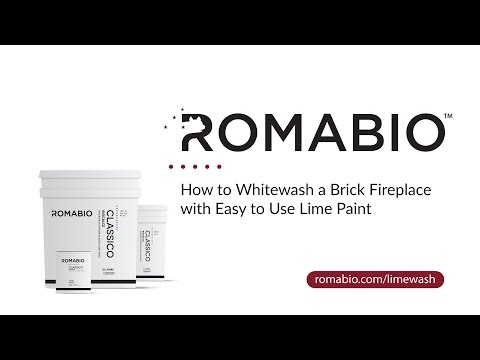 How to Whitewash a Brick Fireplace with Easy to Use Lime Paint