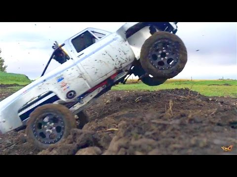 RC ADVENTURES - 1979 Chevy Silverado SCX10 Trophy Truck on a Dirt Track - Jumps, Stunts, & Onboard