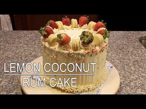 Lemon Coconut Rum Cake