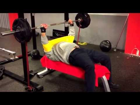 #9A | Bench Press@54 years | Speed Bench Training with Bands & Slingshot