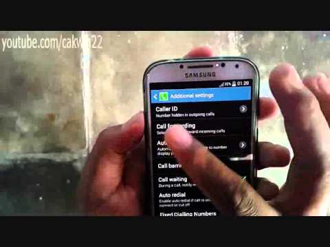 Samsung Galaxy S4: How to hide number (Android Kitkat)