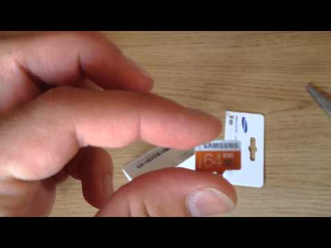 Samsung 64GB evo grade 1 class 10 MicroSD card |Unboxing and install