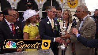 2018 Preakness Stakes Trophy Presentation I NBC Sports