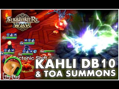 SUMONERS WAR : Kahli Dragons B10 & TOA/TOAH Summons! :D
