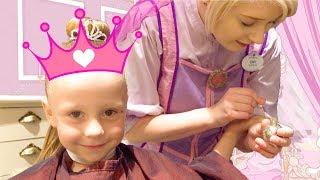 Настя идёт в салон для принцесс