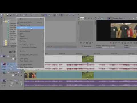 Sony Vegas Pro - Cara Memotong atau Memisah Video dan Audio (Suara)