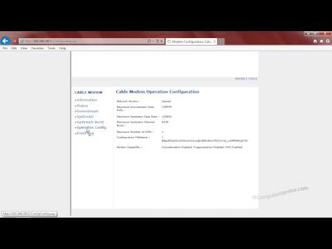 ISP Cable Modem : Login, Setting User Password & Restoring Defaults