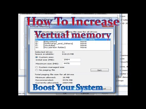 How to Increase Virtual Memory in Windows 7,8,8.1,10 - 3 Step