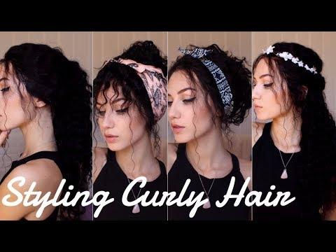 WAYS TO STYLE SUPER CURLY HAIR | Sassy Secret Style | Stella