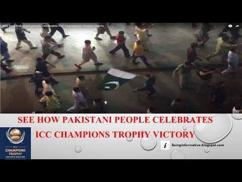 See how Pakistani people celebrates ICC Champions Trophy victory