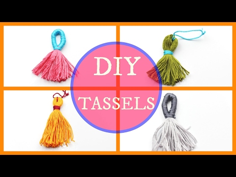DIY Tutorial : How to  make Tassels with Embroidery Thread