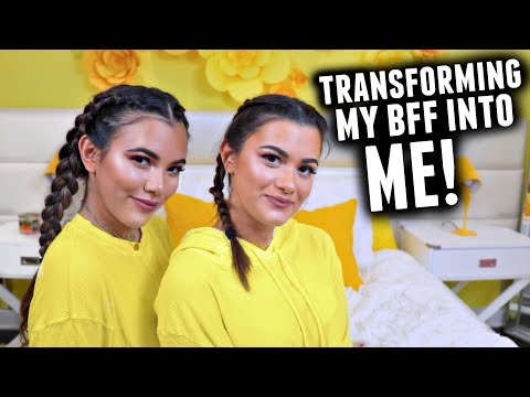 TRANSFORMING MY BEST FRIEND INTO ME CHALLENGE! | feat. Cloe Couture