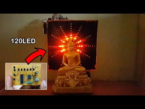 How to make 120 LED chaser by using IC555 and CD4017 at home