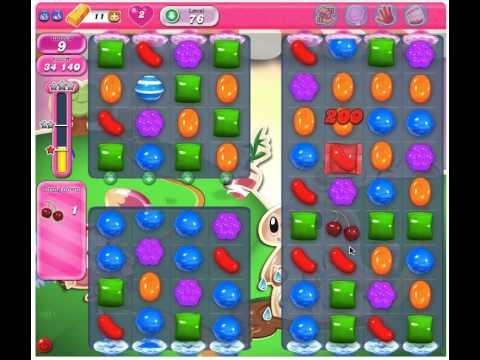 Candy Crush Saga Level 76 - 2 Stars No Boosters
