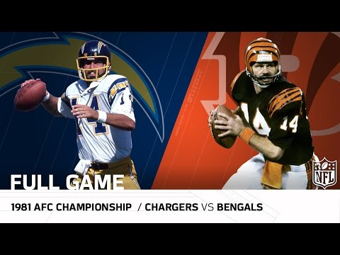 1981 AFC Championship Game: Chargers vs. Bengals |