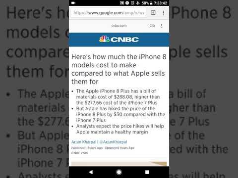 iPhone 8 plus cost, bill of materials