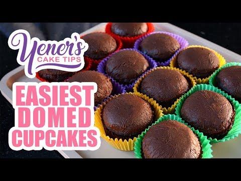 EASIEST DOMED CUPCAKES Tutorial | Yeners Cake Tips with Serdar Yener | Yeners Way