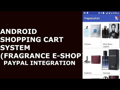 ANDROID SHOPPING CART SYSTEM (PAYPAL PAYMENT INTEGRATION) #3