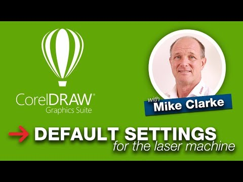 CorelDraw Defaults Settings for the Laser Machine | Trotec