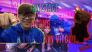 ON STAGE ALONGSIDE H.E.N.G & VIN VITOU!!   ACE TK KNY CHARITY   VLOG #21