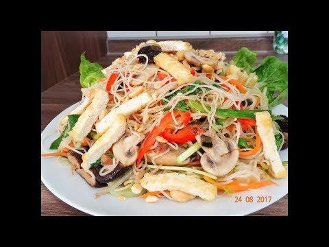 Bún Xào - Món Chay - Chia sẻ cách làm món Bún gạo xào Chay by Vành Khuyên