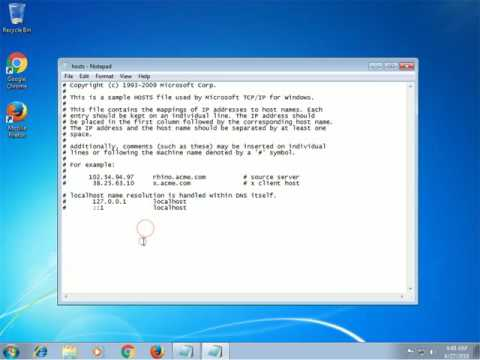 How to Check the Windows HOSTS file if is infected by a Virus or Trojan