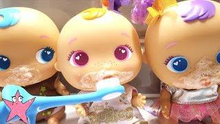 Los Bellies comen muchos dulces y no quieren lavarse los dientes Brush your teeth