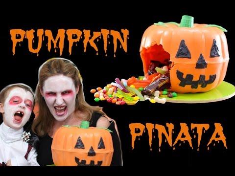 Halloween Pumpkin PINATA Jack O Lantern Smash Cake | Cooking With SQUISH