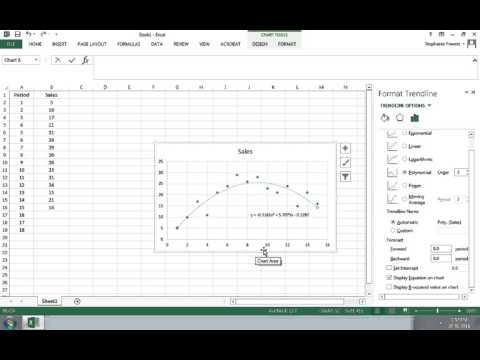 Using Excel to Do Trend Forecasting