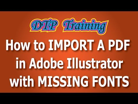 How to import a pdf in Illustrator with missing fonts