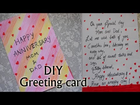 How i made happy anniversary greeting card | very simple | DIY | Niya Kumar