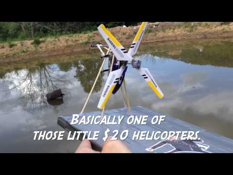 RC Helicopter Converted to RC Swamp Boat