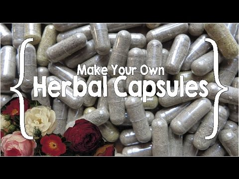 How to Make Herbal Capsules ║ Lower Bowel Formula │Healing at Home #4