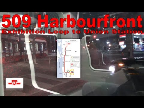 509 Harbourfront - TTC 2016 Bombardier Flexity Outlook 4424 (Exhibition Loop to Union Station)
