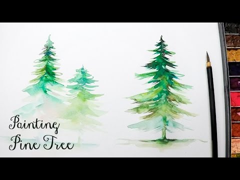 [LVL3] How to Paint a Pine Tree in Watercolor