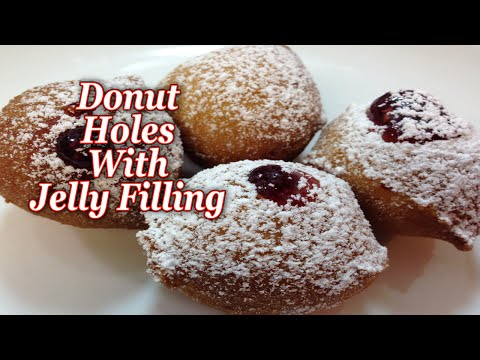 Donut Holes with Jelly Filling
