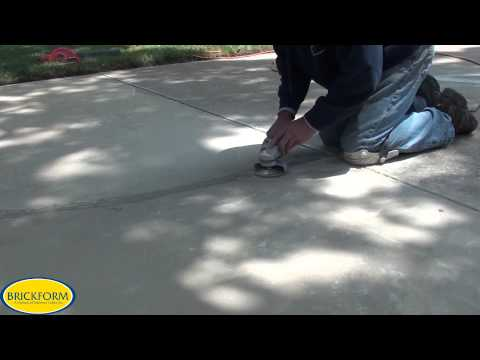 How to resurface cracked concrete with BRICKFORM Overlay