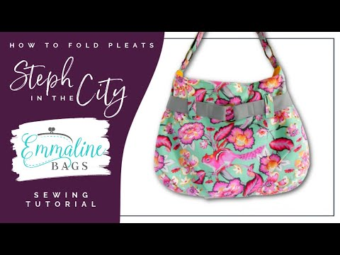 How to fold pleats on the Steph-In-The-City Bag
