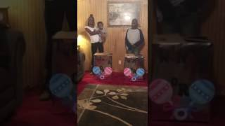 Necole and Alex Twins Gender Reveal