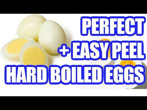 How to Hard Boil Eggs: Make Perfect (EASY PEEL) Hard Boiled Eggs Recipe