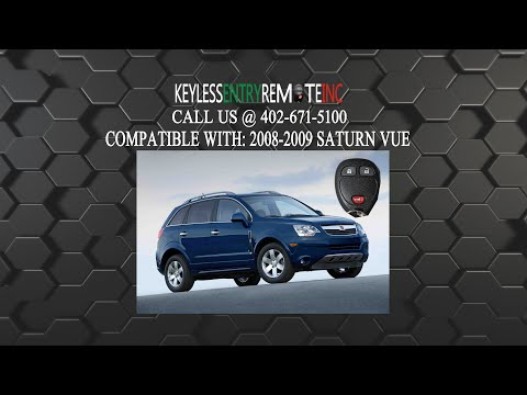 How To Replace Saturn Vue Key Fob Battery 2008 - 2010