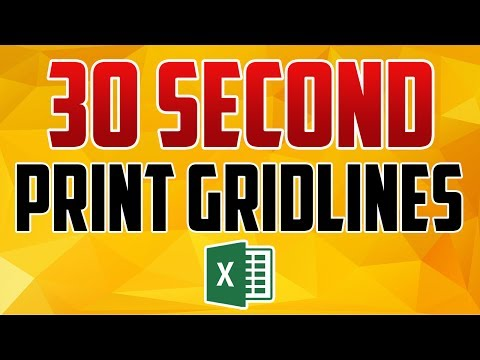 Excel 2016 : How to Print Gridlines