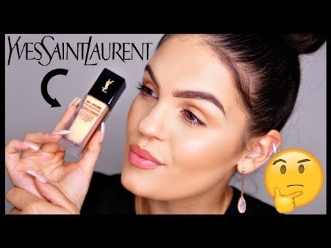 NEW YSL All Hours Foundation First Impression & REVIEW