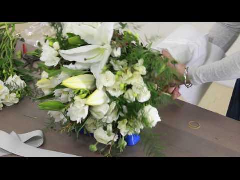 How to create a Premium White Lilies Bouquet