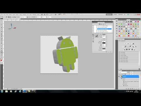 PHOTOSHOP CS5 2D TO 3D LOGO TUTORIAL