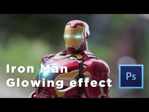 Iron Man Glowing Effects Photoshop Tutorial - ToyPhotography